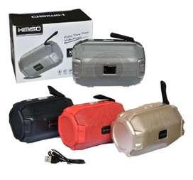 Parlante bocina Bluetooth portátil con luz led ref 408