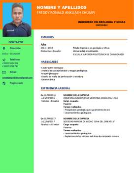 INGENIERO GEOLOGO JUNIOR