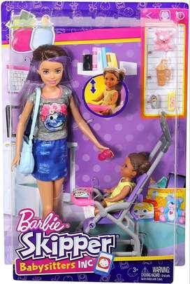 Muñeca Barbie Skipper Babysitter Niñera Cochecito Accesorios