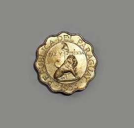 Moneda de Paraguay, 50 céntimos, 1953, XF