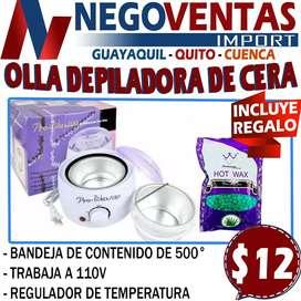 OLLA DERRETIDORA DE CERA + CERA GRATIS