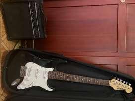 Guitarra eléctrica+amplificador+estuche duro