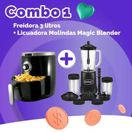 Combo promo freidora de 3 litros +licuadora magic blender