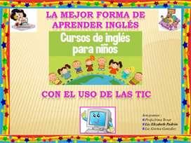 Clases virtuales  de inglés para niños