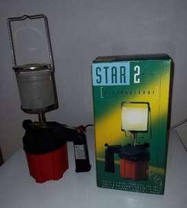 Lámpara Camping c/manija en Caja Box p/gas butano
