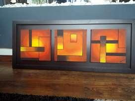 Hermoso cuadro tríptico, decoración