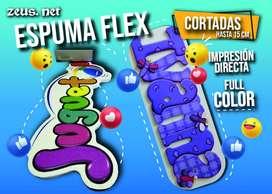 IMPRESION DIRECTA EN ESPUMA FLEX Y FOMIX