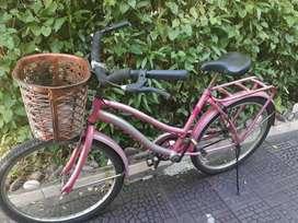 Bicicleta dama vintage, rodado 24