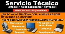 SERVICIO TECNICO COMPUTADORAS- NETBOOK-- VENTA DE INSUMOS