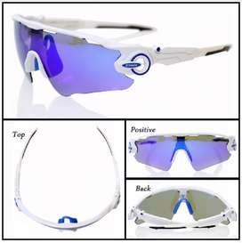 Gafas De Sol Xtiger Ciclismo color blanco 3 Lentes Intercambiables