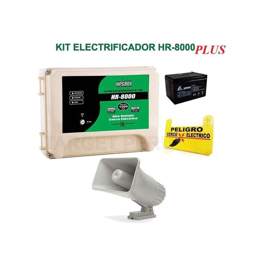 Kit Cerco Electrico Hagroy Hr8000 Plus 10.000 Metros Con Smd 0