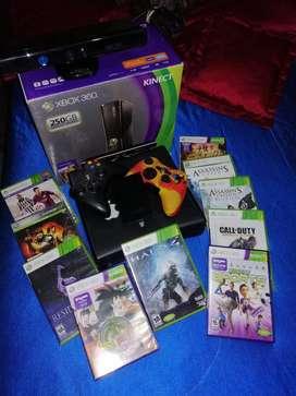 Xbox 360 + Disco Duro 250gb + Kinect (Negociables)