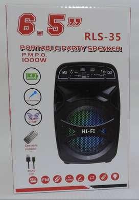 Cabina Parlante Pepa 6.5 Pulgadas Recargable Bluetooth Bt Speaker