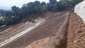 Restauración de taludes, revegetalizacion de taludes, instalación de manto terratrac