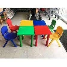 Mesa azul desarmable para niño