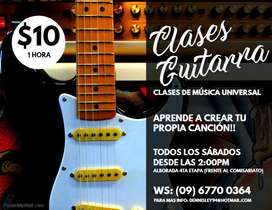 Clases Guitarra Música Universal Sabados