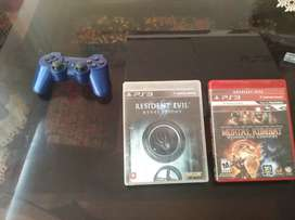 Ps3 super slim com mando/mortal kombat komplete edition y re reveletion