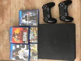 Playstation 4 500GB 8 juegos 2 joysticks poco uso