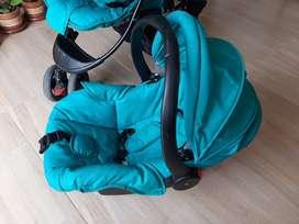 cuna+coche+silla coche+silla para carro adicional Paseador.