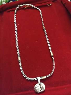 Cadena de plata y oro c dije nueva