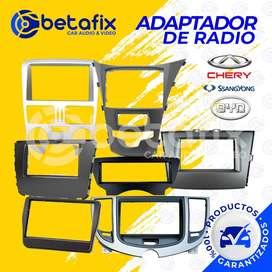 ADAPTADORES DE RADIO PARA CHERY BYD SSANGYOUNG BETAFIX DESDE