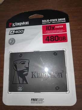 Disco Duro SSD de 480GB Marca Kingston A400 - NUEVO