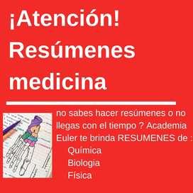 RESUMENES DE INGRESO A MEDICINA UNC-UCC