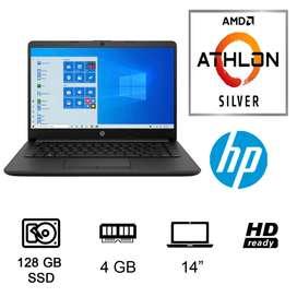 "Notebook HP 14-DK1008CA 14"" AMD Athlon 3050U - Negro"