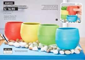 Macetas de colores x 4