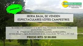 IBERIA BAJA, SE VENDEN ESPECTACULARES LOTES CAMPESTRES