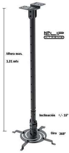 SOPORTE DE PROYECTOR KLIP XTREME KPM-610B UNIVERSAL TECHO 1.21mts, /-15, 360º
