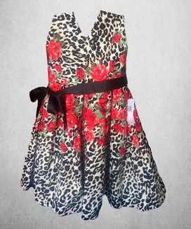 Vestido importado dama tipo straples, estampado flores, nuevo