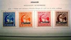 Sellos postales de Italia ocupación austríaca 1918
