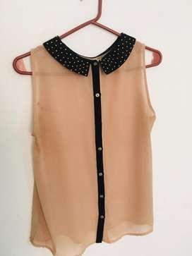 Blusa Cuesta Blanca M Remera
