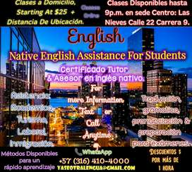 Bogota Native English Classes.