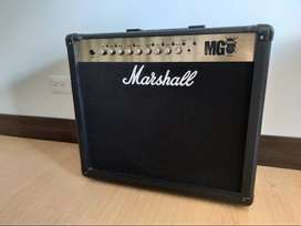 Amplificador Marshall Mg101fx + Footswich 100w Con 4 Canal