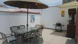 (N-39) Amoblado, con terraza y Cochera – Duplex en Miraflores.