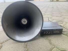 Parlante y amplificador