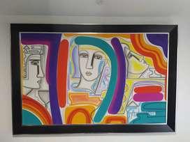 Hermosa obra de arte, del maestro Abiezer Agudelo con ficha técnica y prueba de autenticidad