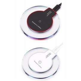 Cargador Universal Inalámbrico Iphone Android Negro y Blanco Cable