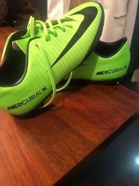 Pupillos Nike Mercurial X verde neon