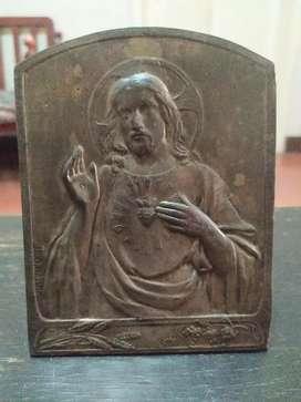 Placa Obra Religiosa Antigua Espectacular Firmada Única
