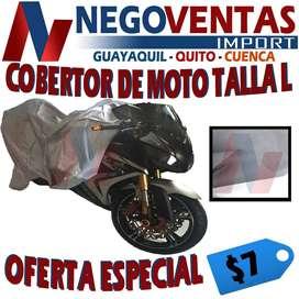 COBERTOR DE MOTO TELA IMPERMEABLE TALLA L