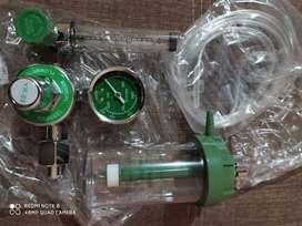 Manometro, con humificador para oxigeno medicinal