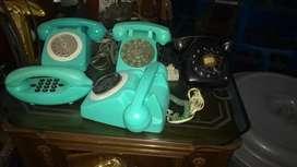 Teléfonos retro años 70 antiguos