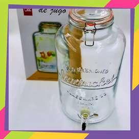 Dispenser de vidrio para jugo con grifo 8 litros