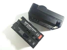 Bateria Para Led NPF770 / F750 Cargador