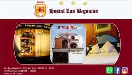 """HOSTAL - HOTEL - HOSPEDAJE - EXCELENTE SERVICIO - """" HOSTAL LAS BEGONIAS """""""