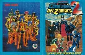 Láminas figuras por unidad del ÁLBUM caballeros del zodiaco 1 y 2 Navarrete. NO taps hitazo Panini