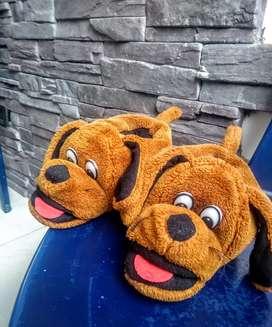 Gangazo pantuflas- babuchas perro para niño y niña
